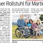 Lars Hoffmann Timo Scheider Rollstuhl Martina