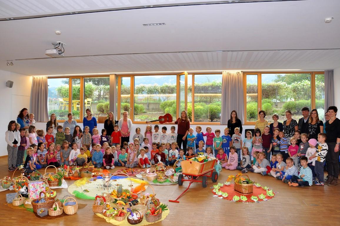 Gemeinsame Erntedank im Kindergarten Ludesch - Stunde des Herzens #YO_09